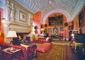 The Drawing Room houses a Jacob de Wet painting, one of hundreds of art works throughout. Image courtesy Glamis Castle