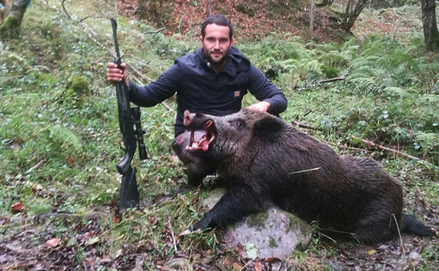 Cristian Gandarillas, con el navajero de 115 kilos. :