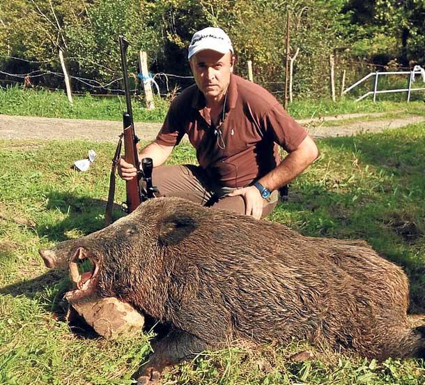 El cazador riosellano Ignacio Alonso Suco. :: E. C.
