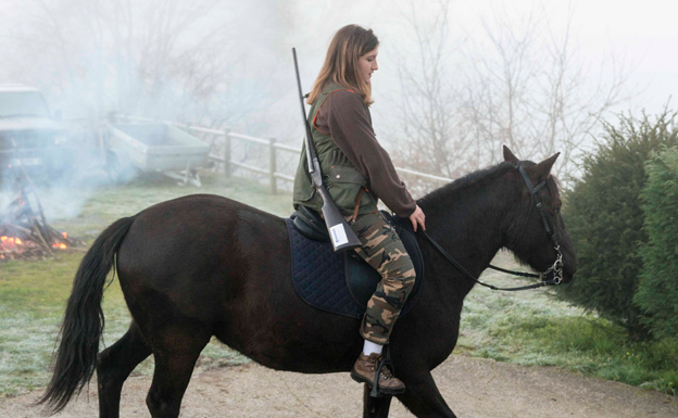 Bea Rosete, a lomos del caballo 'Ramsés'.