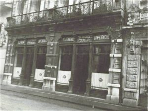 Primera central telefónica, 1924. Calle La Muralla.