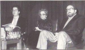 Desde la izquierda: Luis Antonio de Villena, Ana de Valle y Enrique Molina Campos.
