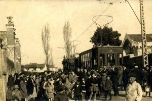 12 de febrero de 1922. El tranvía llega a Villalegre.