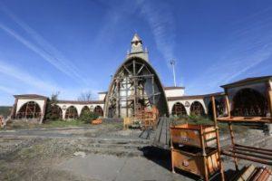 Aspecto actual de la que fue iglesia de San Juan de Nieva.