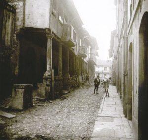 Calle Bances Candamo, en el barrio de Sabugo.