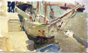 'Puerto de Avilés'. Joaquín Sorolla, 1902.