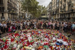 Olmo Calvo. 19/08/2017 Barcelona. Catalunya La Rambla despues del ataque terrorista del dia 17.